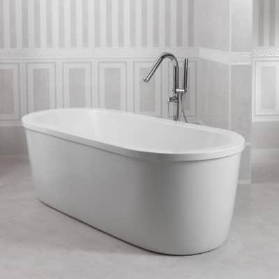 Vasca e telaio Loft 180 x 80 cm bianco