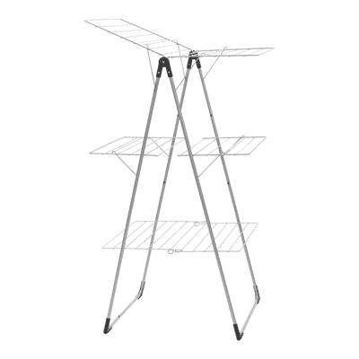 Stendibiancheria da appoggio con battenti Tower in acciaio L 67 cm grigio