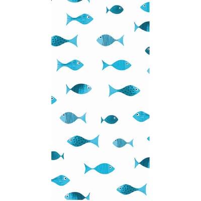 Tenda doccia Scuba in poliestere blu L 240 x H 200 cm