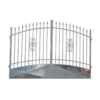 Cancello Etna in ferro zincato L 400 x H 170 - 195 cm