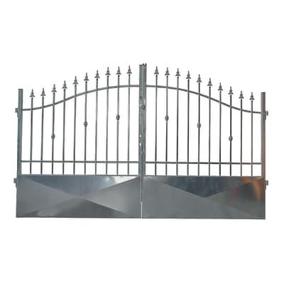 Cancello Stromboli in ferro zincato L 300 x H 150 - 180 cm