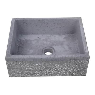 Lavabo da giardino in cemento H 18 cm, 48 x 38 cm