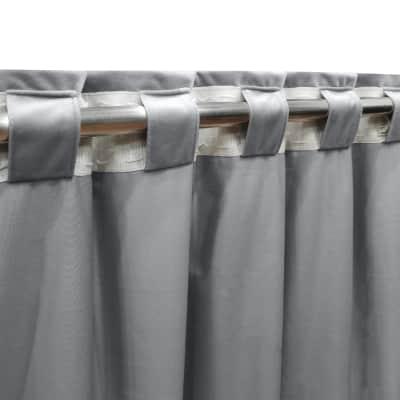 Tenda INSPIRE Tony grigio fettuccia e passanti 140 x 280 cm