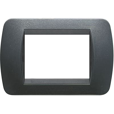 Placca Living International BTICINO 3 moduli acciaio scuro