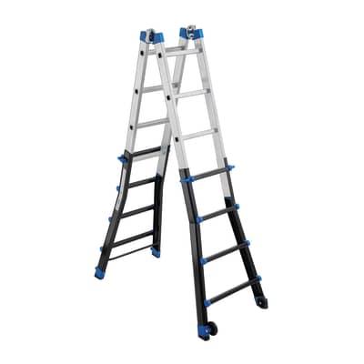 Scala telescopica GIERRE Professionale in alluminio per lavori fino a 6.04 m