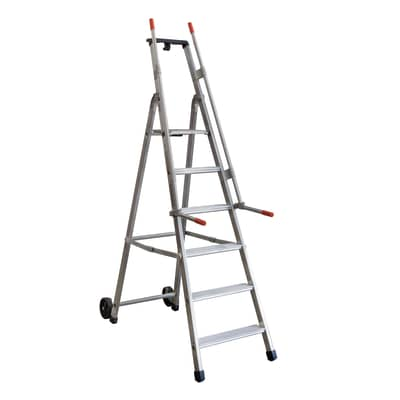 Scala doppia FACAL Mayorà in alluminio 6 gradini per lavori fino a 3.16 m