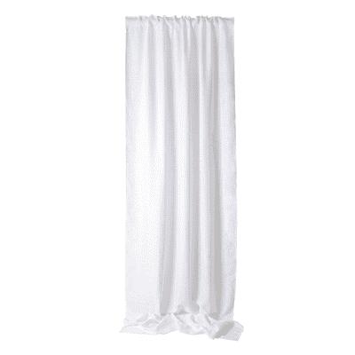 Tenda Dania bianco fettuccia con passanti nascosti 140 x 320 cm