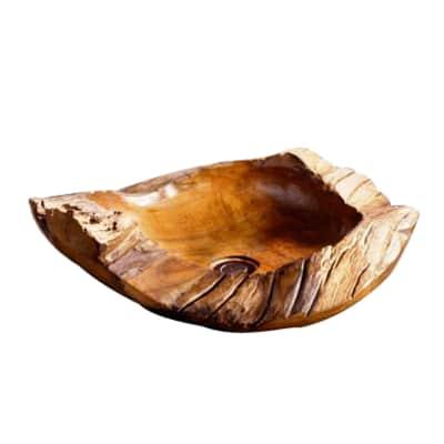Lavabo da appoggio Triangolare Batiko in legno fsc L 35 x P 35 x H 18 cm marrone