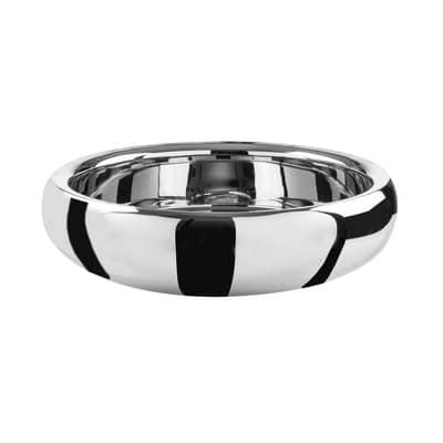 Lavabo da appoggio Rotondo Ring in alluminio Ø 39 x H 11 cm grigio