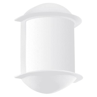 Applique Isoba LED integrato in alluminio, bianco, 6.0W 500LM IP44 EGLO