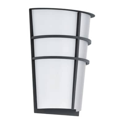 Applique Breganzo LED integrato in acciaio inox, grigio, 2.5W 360LM IP44 EGLO