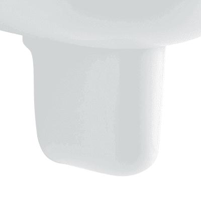 Semicolonna colibri 2 H 32 cm in ceramica bianco