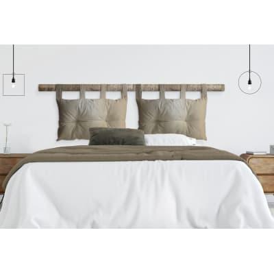 Cuscino testata letto ECOPELLE oro 45x70 cm