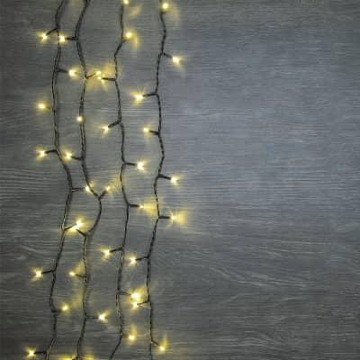 Catena luminosa 480 lampadine LED bianco caldo 4 m