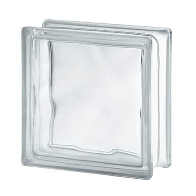 Vetromattone trasparente lucido H 19 x L 19 x Sp 8 cm 10 pezzi