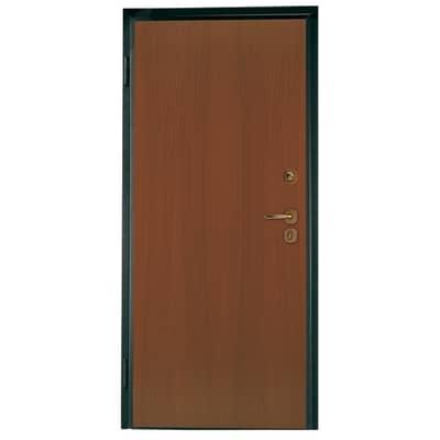 Porta blindata Alarm noce L 80 x H 210 cm sinistra