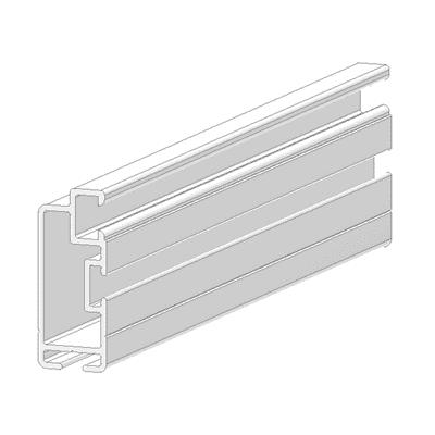 Profilo Sistema in alluminio 2.5 m x 2.5 cm bianco