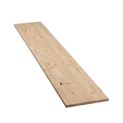 Tavola legno lamellare abete 100 x 40 cm Sp 18 mm