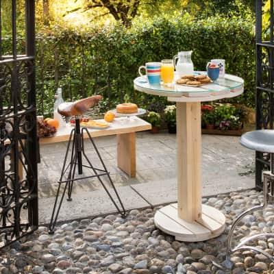 Tavolo rotondo Tablo' in legno x P 60 cm
