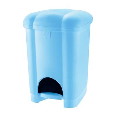 Pattumiera da bagno a pedale carolina azzurro 6 Lin polipropilene