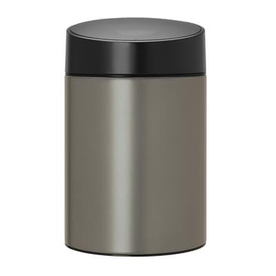 Pattumiera da bagno a ribalta slide bin grigio 5 Lin acciaio