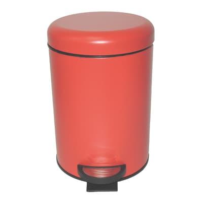 Pattumiera da bagno a pedale pop SENSEA rosso 3 Lin metallo