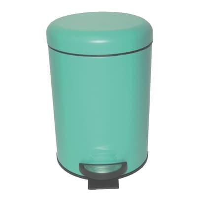 Pattumiera da bagno a pedale pop SENSEA verde 3 Lin metallo