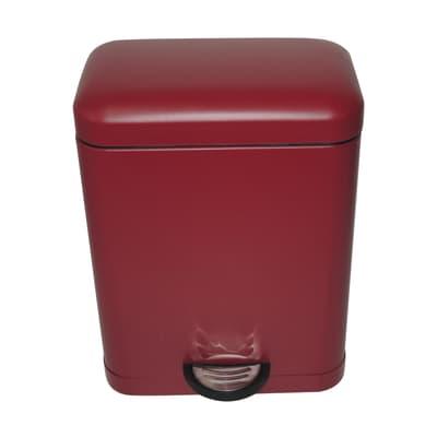 Pattumiera da bagno a pedale Smart rosso 5 L