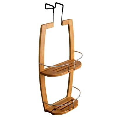 Vassoio Fred portaoggetti 2 ripiani bamboo