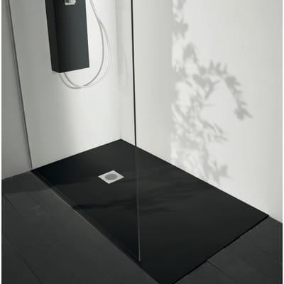 Piatto doccia ultrasottile fibra di vetro Boston 70 x 100 cm nero