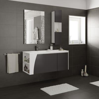 Mobile bagno Soft grigio L 116.5 cm