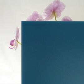 Vetro acidato verniciato blu 6 mm