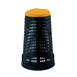 Trespolo con coperchio nero e giallo satinato 100 L