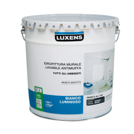 Idropittura antimuffa bianca Luxens 14 L