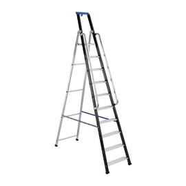 Scala doppia alluminio Gierre 12 gradini, per lavori fino a 4,8 m