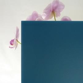 Vetro acidato verniciato blu 10 mm