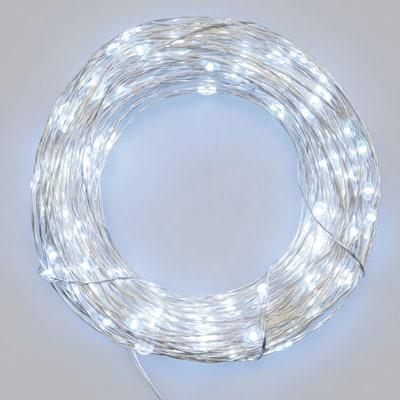 Catena luminosa 10 minilucciole Led bianca fredda 1 m