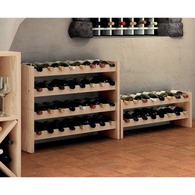 Scaffale legno portabottiglie 16 posti 2 ripiani l 68 8 x for Portabottiglie leroy merlin