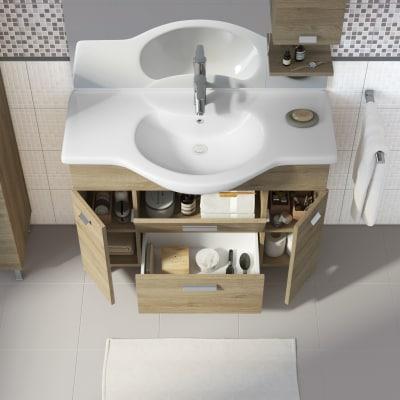 Mobile bagno rimini rovere l 105 cm prezzi e offerte for Lavabo rimini