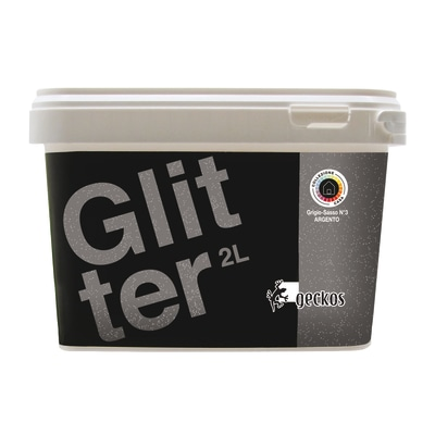 Pittura ad effetto decorativo glitter grigio sasso 3 2 l for Pittura lavabile prezzi leroy merlin