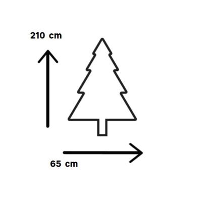 Albero di Natale artificiale con porta H 210 cm