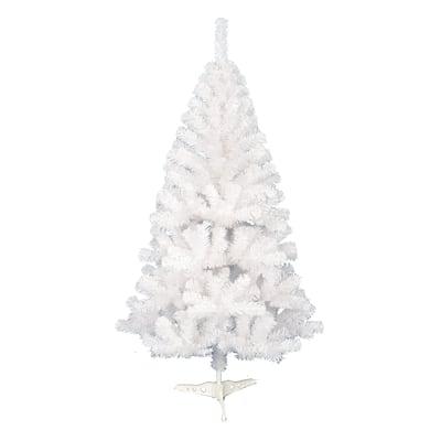 Albero di Natale artificiale bianco opaco 180 cm H 180 cm