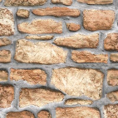 Pellicola adesiva muro pietra marrone 45 cm x 2 m prezzi e for Fotomurali leroy merlin