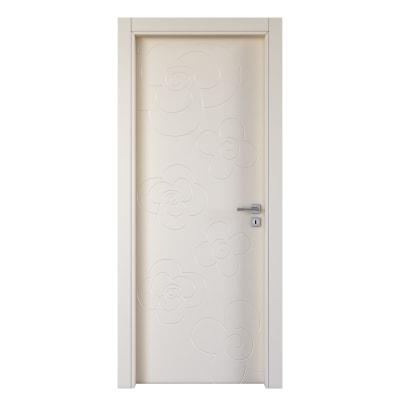Porta da interno battente Flower ivory avorio 70 x H 210 cm sx