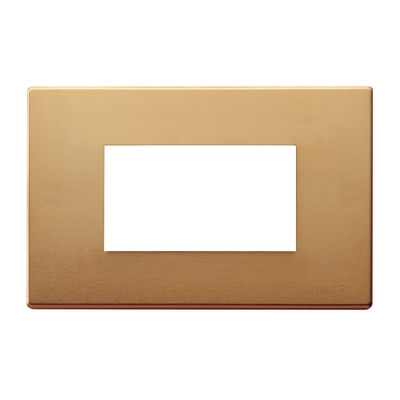 Placca 3 moduli Vimar serie 8000 bronzo