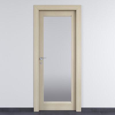 Porta da interno battente Shaula paglia 80 x H 210 cm dx