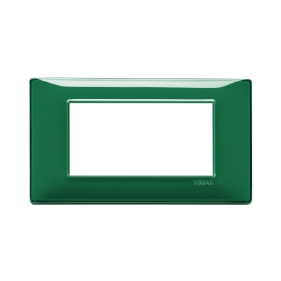 Placca 4 moduli Vimar Plana smeraldo