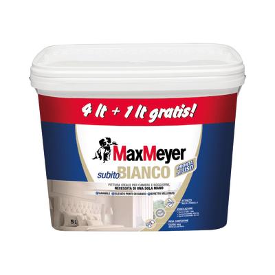 Idropittura lavabile bianca Max Meyer Subito Bianco 5 L