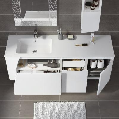 Mobile bagno Soft bianco L 152,5 cm