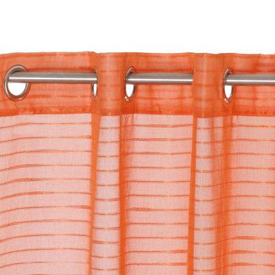Tenda Righe orizzontali arancione 140 x 280 cm